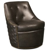 Living Room Segura Leather Swivel Accent Chair