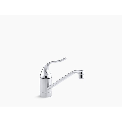 """Polished Chrome Single-hole Kitchen Sink Faucet With 8-1/2"""" Spout, Ground Joints and Lever Handle"""