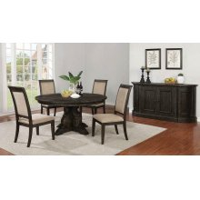 Whitney Traditional Beige and Burnished Black Side Chair