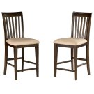 Mission Pub Chairs Set of 2 with Oatmeal Cushion in Walnut Product Image