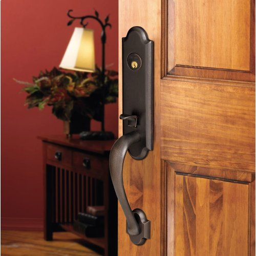 Distressed Oil-Rubbed Bronze Boulder 3/4 Handleset