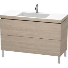 Furniture Washbasin C-bonded With Vanity Floorstanding, Pine Silver (decor)