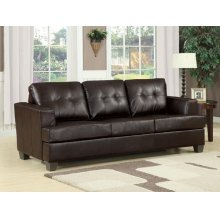 BROWN BND L. SOFA W/Q. SLEEPER