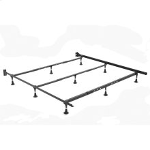 Nautilus H2056 Adjustable Waterbed Frame with Reversible Headboard Brackets and (9) Leg Glides, Queen / California King