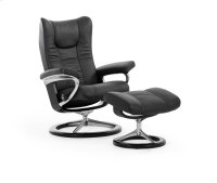 Stressless Wing Small Signature Base Chair and Ottoman Product Image
