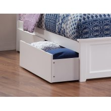 Two Urban Bed Drawers Queen/King in White