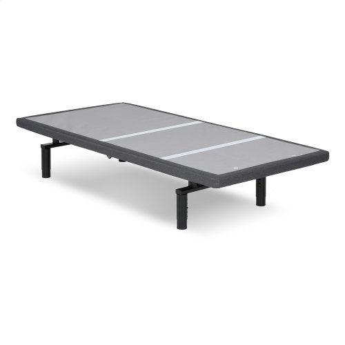 Falcon 2.0+ Low-Profile Adjustable Bed Base with Simultaneous Movement and Under-Bed Lighting, Charcoal Gray, Twin