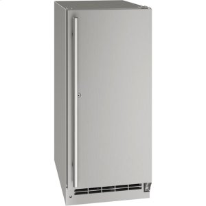 "U-LineOutdoor Collection 15"" Refrigerator With Stainless Solid (lock) Finish and Field Reversible Door Swing (115 Volts / 60 Hz)"