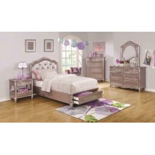 Caroline Metallic Lilac Queen Four-piece Set