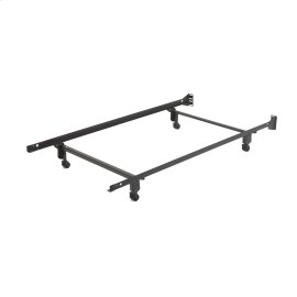 Inst-A-Matic PC738R Bed Frame with Headboard Brackets and (4) 2-Inch Locking Rug Rollers, Twin
