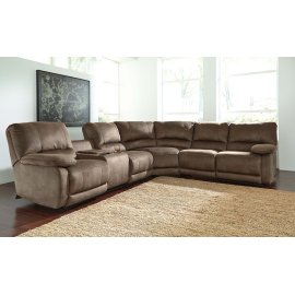 Seamus 4-Pc Sectional LAF Double Power Recliner  w/ Console and Loveseat