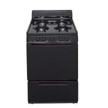 24 in. Freestanding Battery-Generated Spark Ignition Gas Range in Black