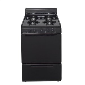 Premier24 in. Freestanding Battery-Generated Spark Ignition Gas Range in Black