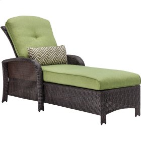 Strathmere Outdoor Luxury Chaise in Cilantro Green