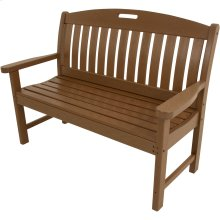 Avalon All-Weather 48 In. Porch Bench in Teak