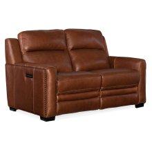 Living Room Lincoln Power Recline Loveseat w/Power Headrest&Lumbar Rec
