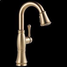 Champagne Bronze Single Handle Pull-Down Bar / Prep Faucet