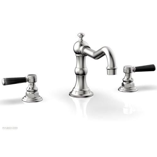 HENRI Deck Tub Set - Marble Lever Handles - 161-42 - Satin Chrome