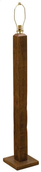 Barnwood Floor Lamp - without Lamp Shade Product Image