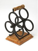 From storing your favorites vintages to lending an elegant accent to your kitchen or dining ensemble, this Industrial wine rack offers style and function to your home. Made from wrought iron and Mango wood, it features subdued appearence and a carrying ha Product Image