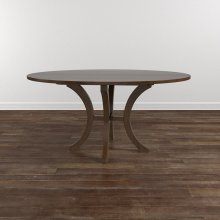 """Custom Dining 60"""" Glass Table w/Round Tall"""