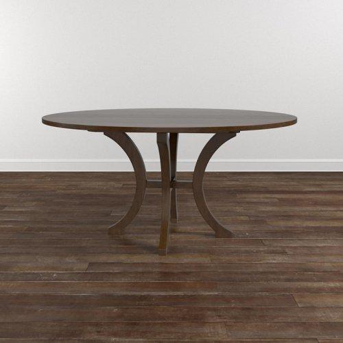 "Custom Dining 60"" Wood Table w/Round Tall"