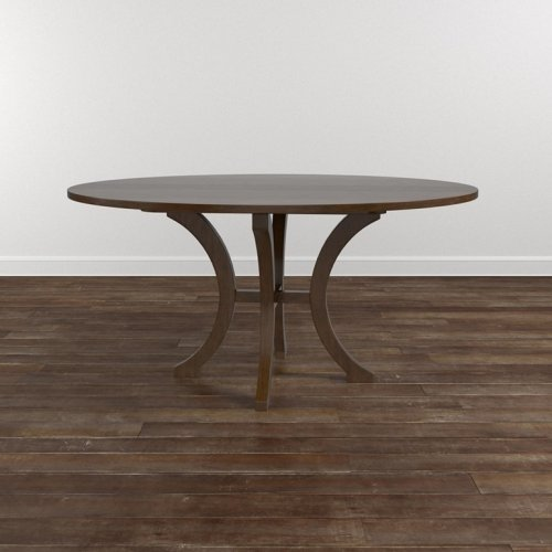 """Custom Dining 60"""" Glass Table w/Round Base"""