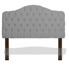 Martinique Button-Tuft Upholstered Headboard with Adjustable Height, Putty Finish, Twin