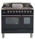 "36"" - 5 Burner, Double Oven w/ Griddle in Matte Graphite Product Image"
