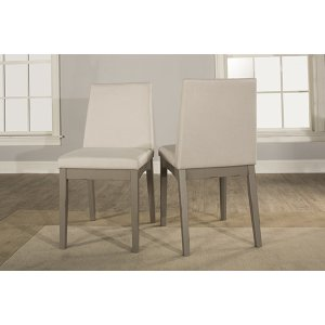 Hillsdale FurnitureClarion Upholstered Dining Chairs - Set of 2 - Distressed Gray