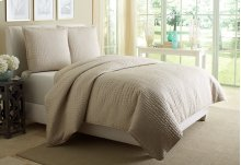 3 pc Queen Duvet Set Natural