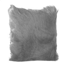 Goat Fur Pillow Light Grey