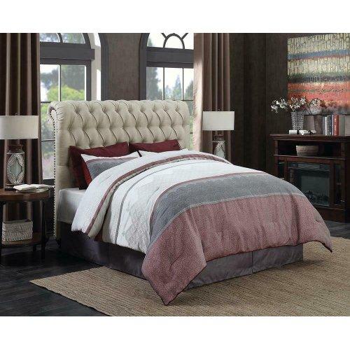 Gresham Beige Upholstered King Bed