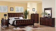 537 Cavalier Queen BED COMPLETE; Queen HB, FB, Rails & Slats