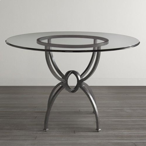 "Custom Dining 60"" Glass Table w/Round Tall"