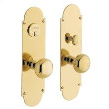 Lifetime Polished Brass Boston Entrance Set