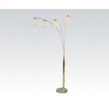 Gold Floor Lamp W/marble Base