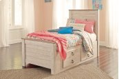 Willowton - Whitewash 5 Piece Bed Set (Twin)