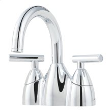"Polished Chrome 2-Handle 4"" Centerset Bathroom Faucet"