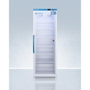 SummitPerformance Series Pharma-vac 15 CU.FT. Upright Glass Door All-refrigerator for Vaccine Storage With Factory-installed Data Logger