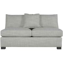 Kelsey Armless Loveseat in Mocha (751)