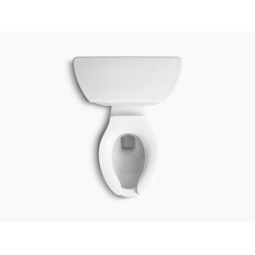 White Comfort Height Two-piece Elongated 1.0 Gpf Toilet With Pressure Lite Flush Technology and Tank Cover Locks