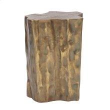 Antique Brass Faux Bois Stool / Accent Table