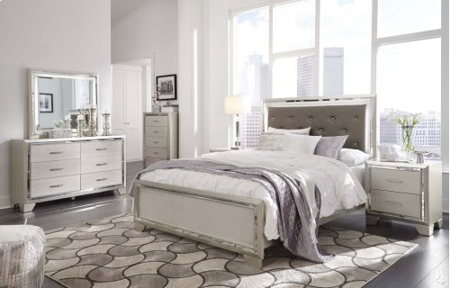 Lonnix - Silver Finish 3 Piece Bed Set (Queen)