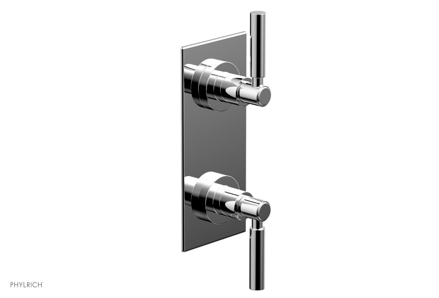 """BASIC 1/2"""" Thermostatic Valve with Volume Control or Diverter Lever Handles 4-344 - Polished Chrome"""