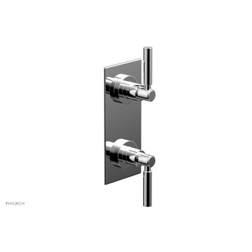 "BASIC 1/2"" Thermostatic Valve with Volume Control or Diverter Lever Handles 4-344 - Polished Chrome"
