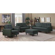 Kesson Mid-century Modern Brown Three-piece Living Room Set