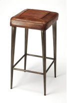 Reminiscent of vintage car seats, this bar stool brings a rustic vibe to your kitchen, bar, or pub ensemble. Comfortable seating with its supple leather and a foot rest in just the right place, adds a touch of class and elegance to your already existing h Product Image