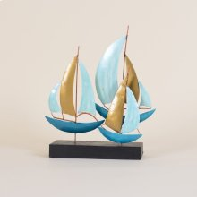 Metal Sailboats On Stand