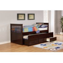 Bennett Espresso Twin Bed with Trundle & 3 Storage Drawers